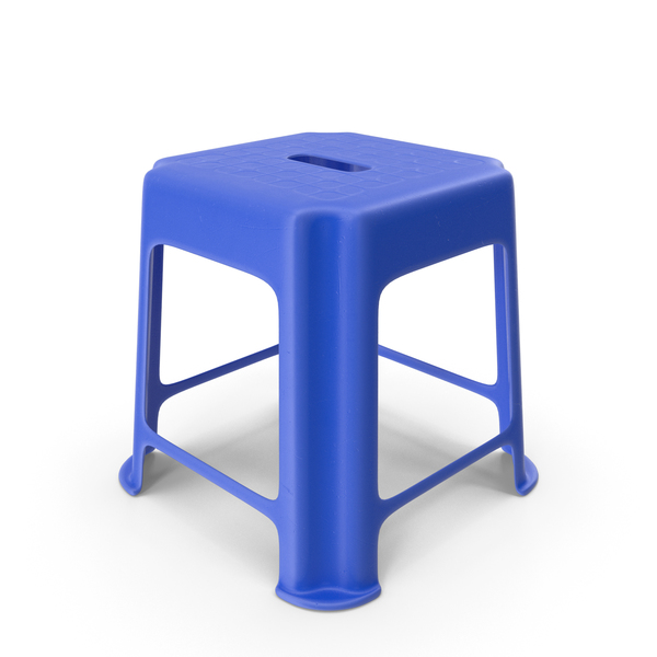 Blue Hard Plastic Stool PNG & PSD Images
