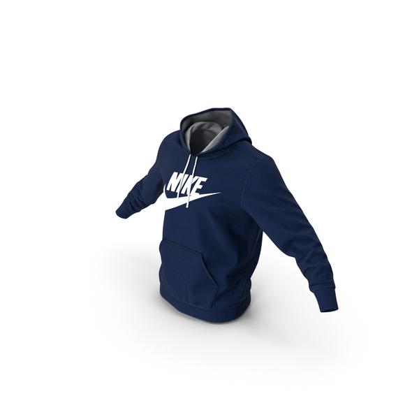 Sweatshirt: Blue Hoodie Nike Lowered Hood PNG & PSD Images