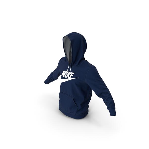 Sweatshirt: Blue Hoodie Nike Raised Hood PNG & PSD Images