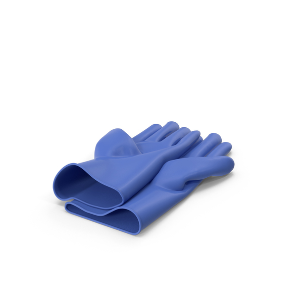 Blue Household Gloves PNG & PSD Images