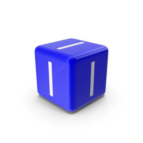 Blue I Block PNG & PSD Images
