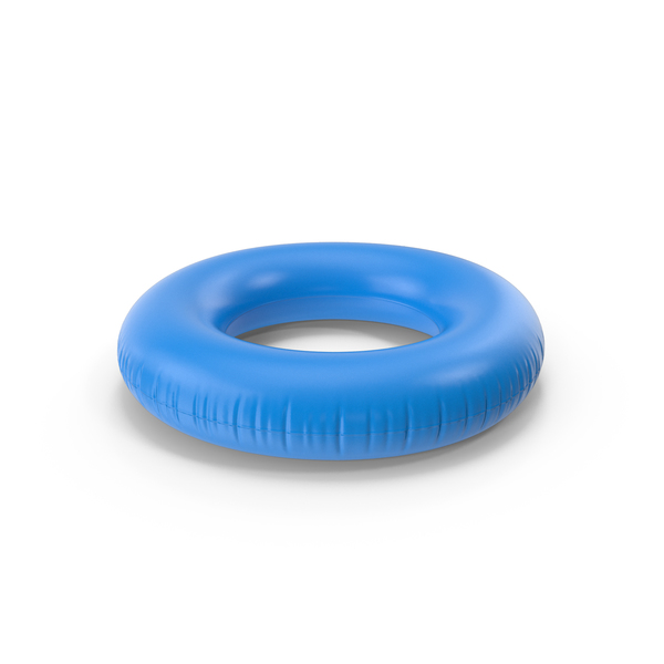 Pool Toy: Blue Inflatable Rubber Ring PNG & PSD Images