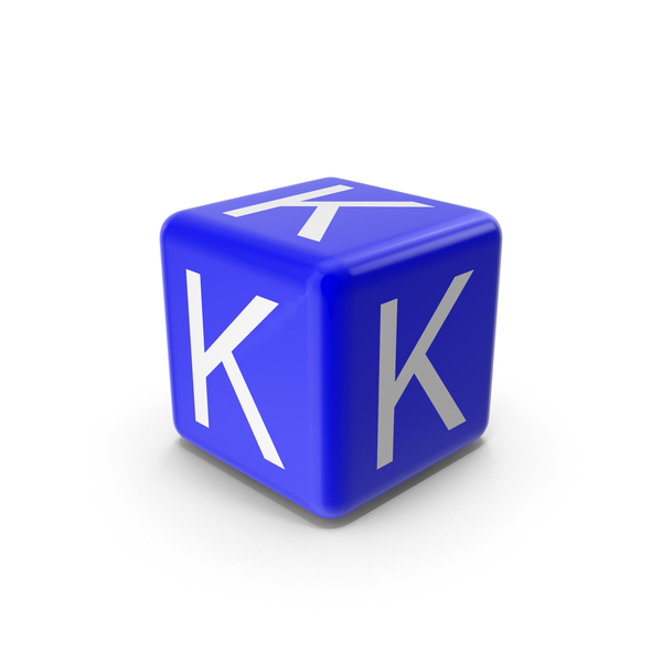 Alphabet Blocks: Blue K Block PNG & PSD Images
