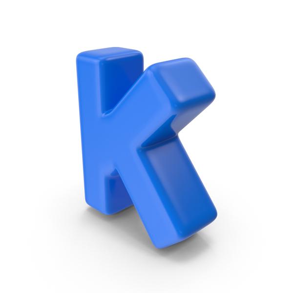 Blue Letter K PNG & PSD Images