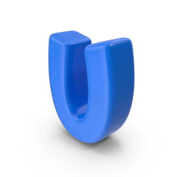Language: Blue Letter U PNG & PSD Images
