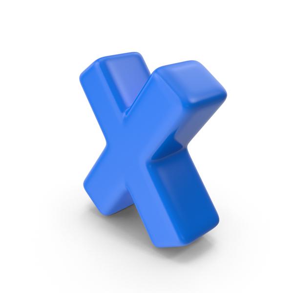 Blue Letter X PNG & PSD Images