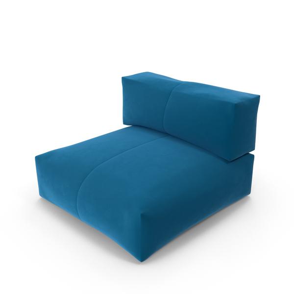 Blue Lounge Chair object images available for PNG PSD S F