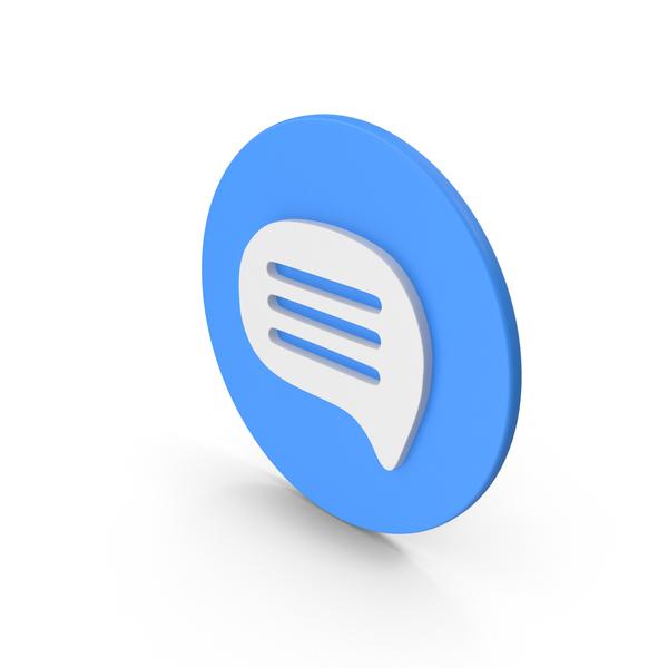 Letter: Blue Message PNG & PSD Images