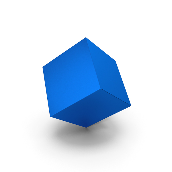 Blue Metallic Cube PNG & PSD Images