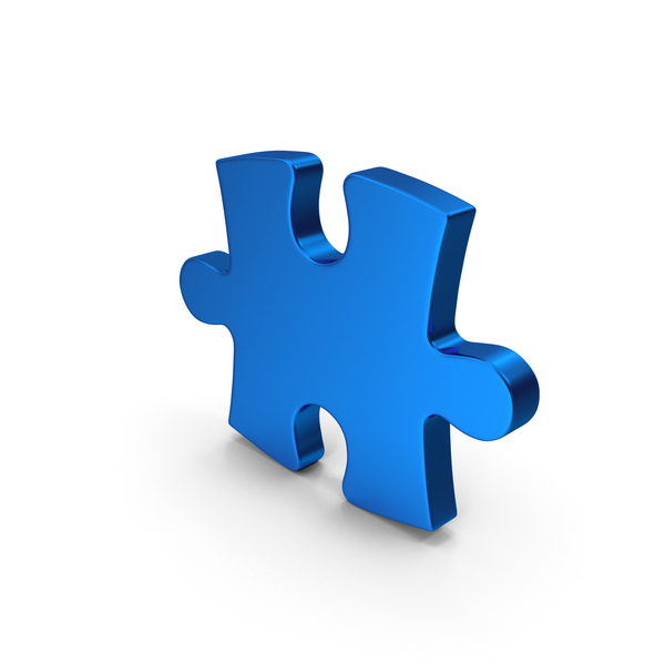 Jigsaw: Blue Metallic Puzzle PNG & PSD Images