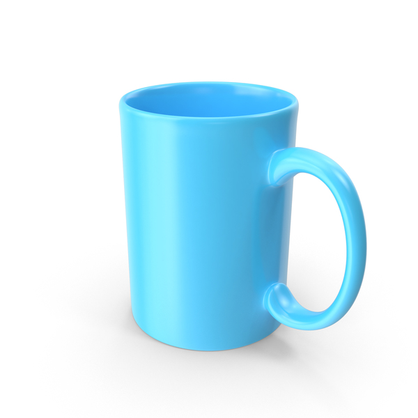 Coffee Cup: Blue Mug PNG & PSD Images