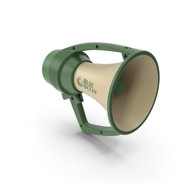 Blue Ocean Rugged Megaphone PNG & PSD Images
