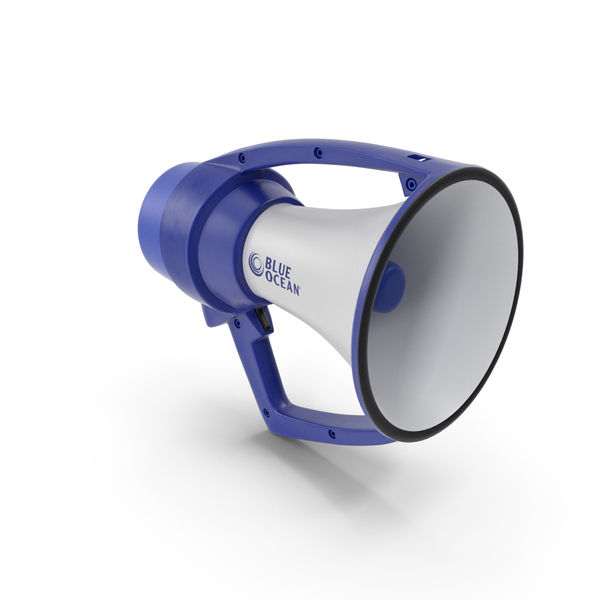 Blue Ocean Waterproof Megaphone PNG & PSD Images