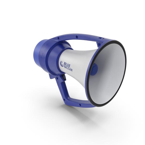 Blue Ocean Waterproof Megaphone PNG & PSD Images
