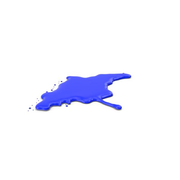 Blue Paint Dab PNG & PSD Images