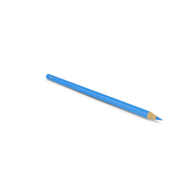Colored: Blue Pencil PNG & PSD Images