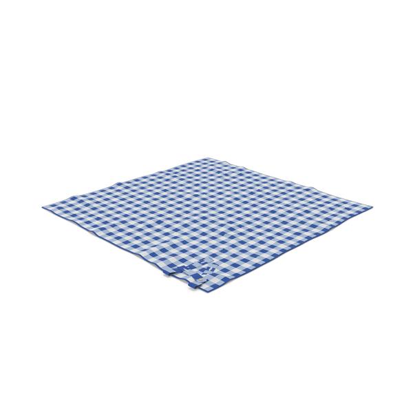 Blue Picnic Blanket Object