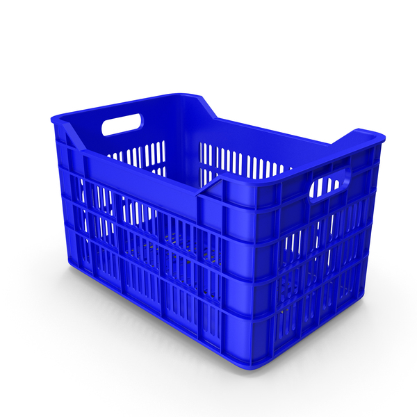 Blue Plastic Fruit crate PNG & PSD Images