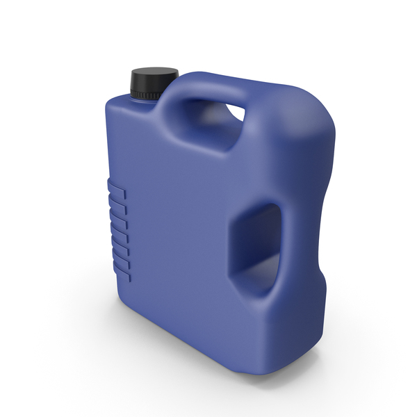 Fuel Can: Blue Plastic Jerrycan PNG & PSD Images