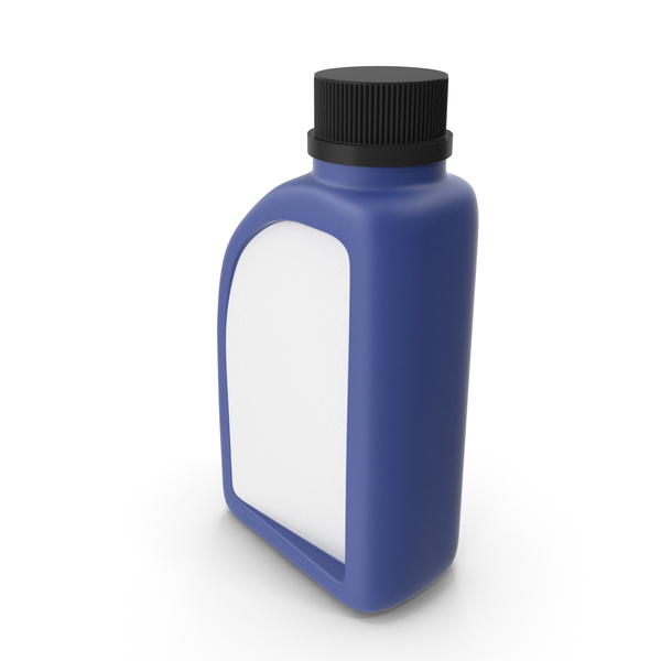 Fuel Can: Blue Plastic Jerrycan with Black Cap and Logo PNG & PSD Images
