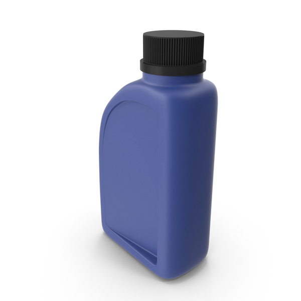 Fuel Can: Blue Plastic Jerrycan with Black Cap PNG & PSD Images