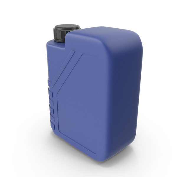 Blue Plastic Jerrycan with Black Cap PNG & PSD Images