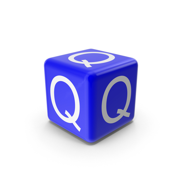 Alphabet Blocks: Blue Q Block PNG & PSD Images