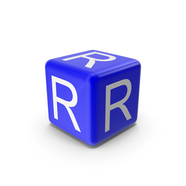 Alphabet Blocks: Blue R Block PNG & PSD Images