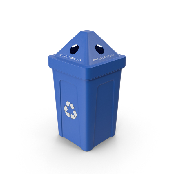 Blue Recycling Bin PNG & PSD Images