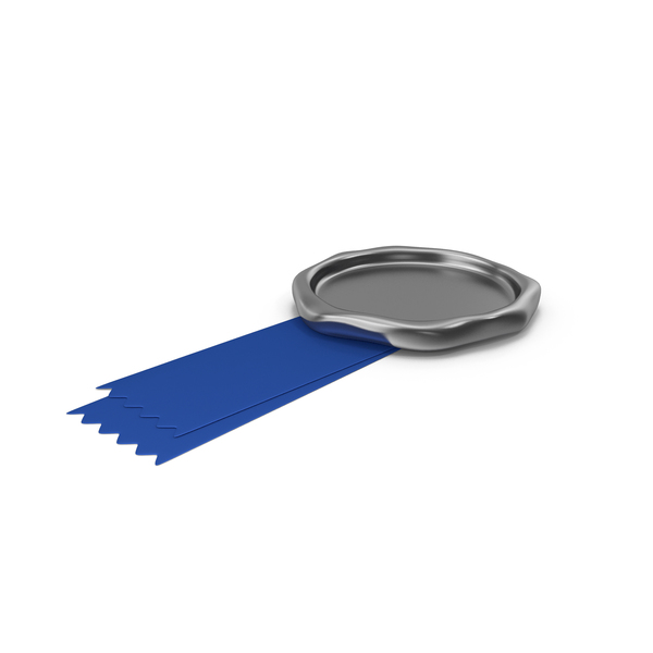 Blue Ribbon with Wax Stamp PNG & PSD Images