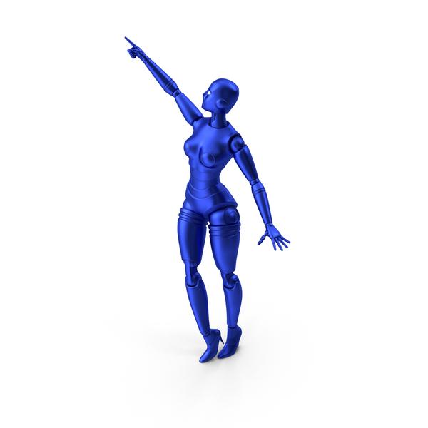 Cyborg: Blue Robot Woman PNG & PSD Images