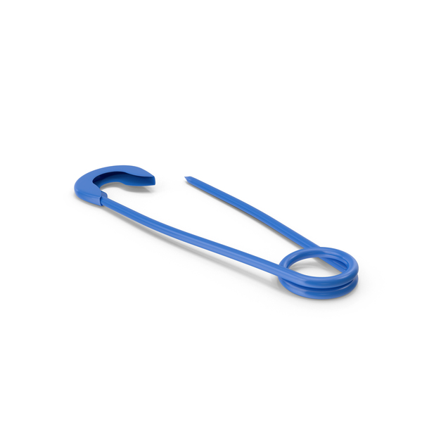 Blue Safety Pin PNG & PSD Images