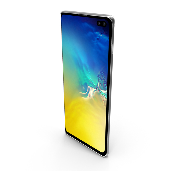 Blue Samsung Galaxy S10 Plus PNG & PSD Images