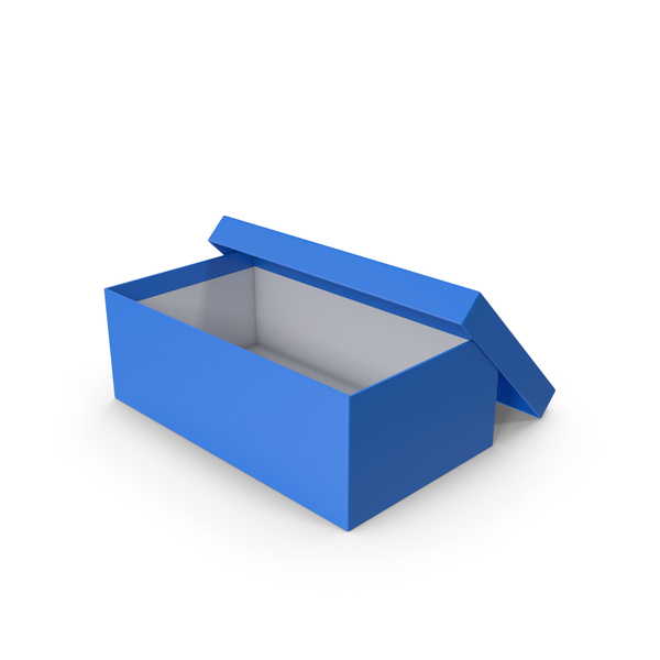Blue Shoe Box Opened PNG & PSD Images