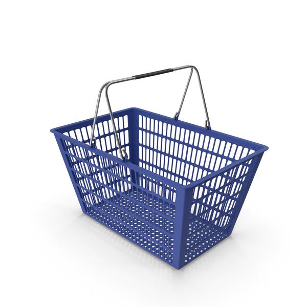 Blue Shopping Basket PNG & PSD Images