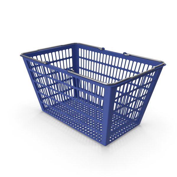 Blue Shopping Basket PNG & PSD Images