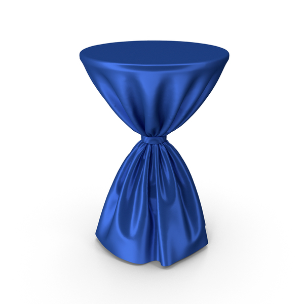Blue Silk Tablecloth Cocktail Table PNG & PSD Images