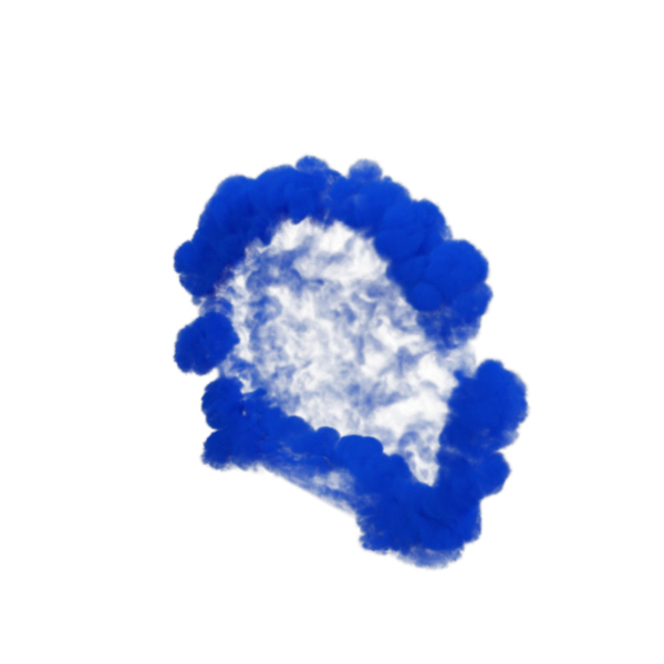 Blue Smoke Blast PNG & PSD Images