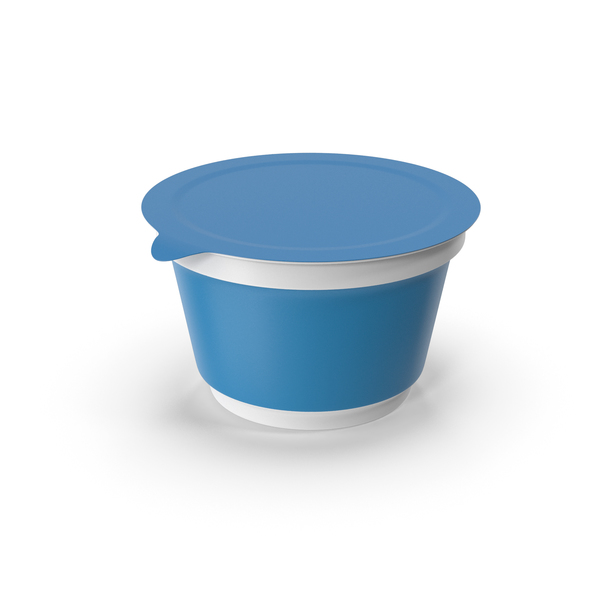 Blue Sour Cream Cup PNG & PSD Images