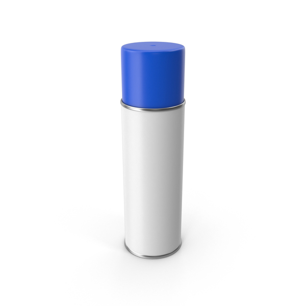 Aerosol: Blue Spray Paint Can PNG & PSD Images