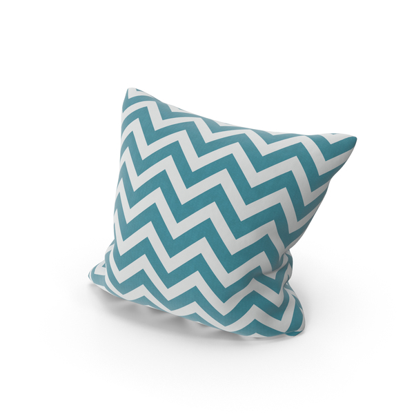 Blue Stripe Throw Pillow PNG & PSD Images
