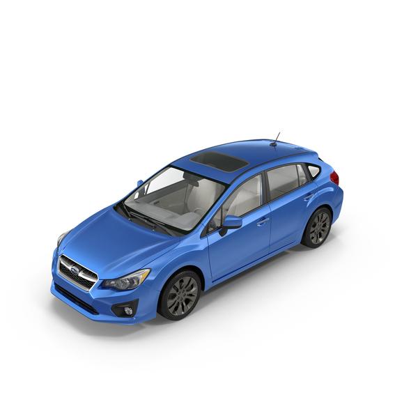 Blue Subaru Impreza PNG & PSD Images