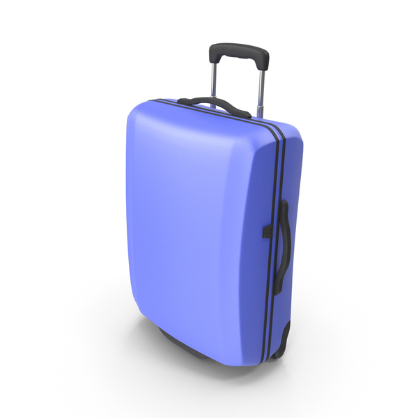 Rolling: Blue Suitcase PNG & PSD Images