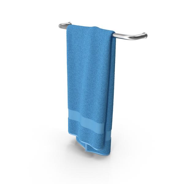 Bath: Blue Towel PNG & PSD Images