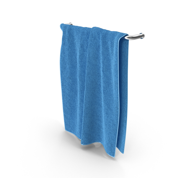 Blue Towel on Rack PNG & PSD Images