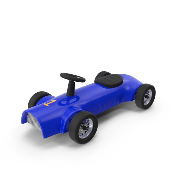 Blue Toy Alfa Romeo 8C 2300 Retro Car PNG & PSD Images
