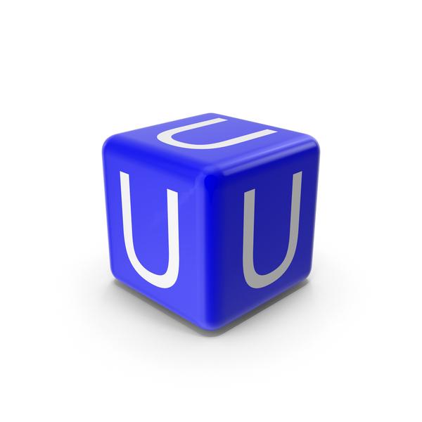 Blue U Block PNG & PSD Images