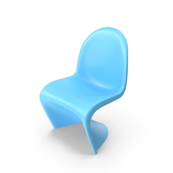 Blue Vitra Panton Chair PNG & PSD Images