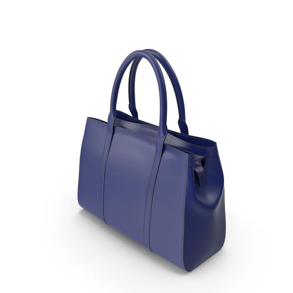 Blue Women's Handbag PNG & PSD Images