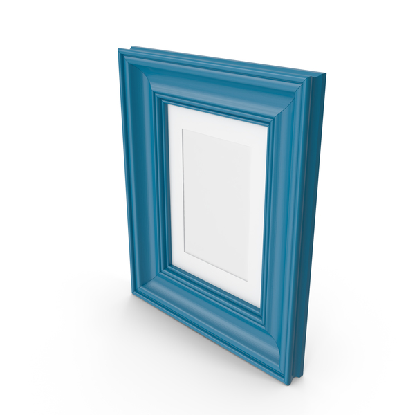 Blue Wooden Picture Frame PNG & PSD Images
